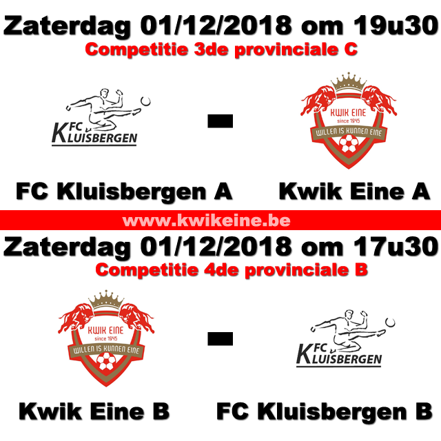 FCKluisbergenA-KwikA--KwikB-FCkluisbergenB