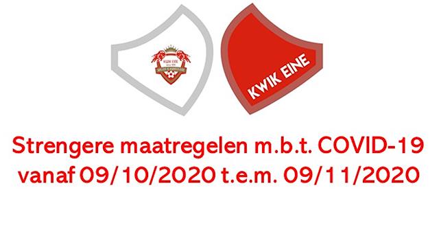 Strengere maatregelen m.b.t Covid-19