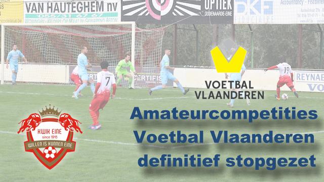 Amateurcompetities Voetbal VL definitief stopgezet