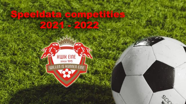 Speeldata competities 2021-2022