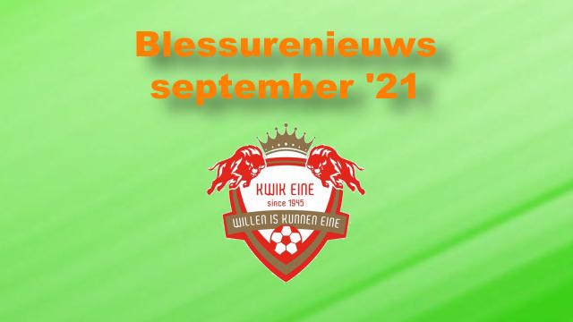 Blessurenieuws september '21